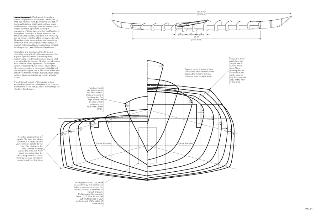 Petrel Sea Kayak Plans Stacked Forms